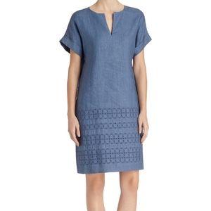 LAFAYETTE 148 Linen Fabian Embroidered Dress $548